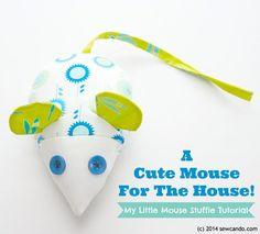 peluche souris Patron gratuit : une souris mignonne comme tout