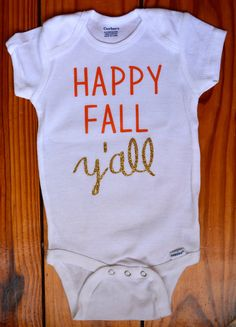Baby Onesie Halloween onesie happy fall yall by EclecticBadger