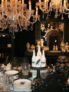 gothic halloween table decorations