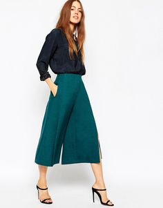 ASOS+Premium+Structured+Culottes+with+Split+Detail