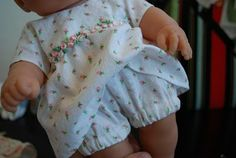 doll dress and bloomers pattern FREE