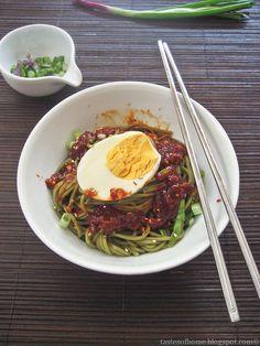 Korean cold noodles.