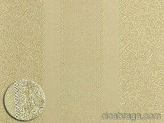 Ciça Braga - Papel de parede   Papel de Parede Vinílico Castello (Italiano) - Listras (Ouro/ Detalhes com Brilho) - COLA GRÁTIS