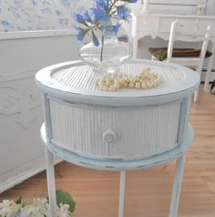 SOLD table shabby chic furniture cottage home decor by backporchco, $59.90