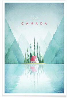 Canada als Premium Poster von Henry Rivers | JUNIQE shop