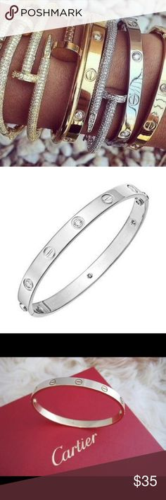Silver screw love bracelet women's Stainless steel screw love bracelet women's fitted new without the tags perfect condition Jewelry Bracelets