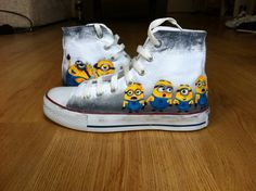 Minion Shoe Both Side Painted With Minions  Converse by denimtrend, $75.00