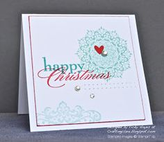 By Vicky Hayes  #christmascards #stampinup #happyday