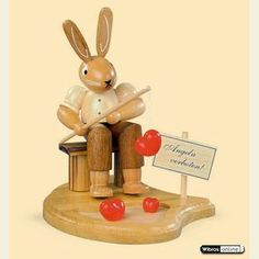 Easter decoration: Bunny fisherman  - 11cm / 4 inch