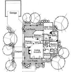 Plano de Casa Estilo Colonial de 3 dormitorios