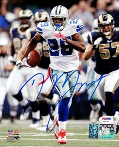 DeMarco Murray Autographed 8x10 Photo Dallas Cowboys PSA/DNA Stock #60706