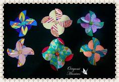3 lindas flores de scrapbook para decorar tarjetas   Manualidades