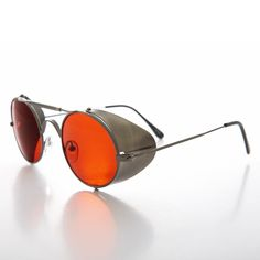 Colored Lens Steampunk Sunglass with Folding Side Shields - Bram 1 – Sunglass Museum Round Sunglasses, Mirrored Sunglasses, Mens Sunglasses, League Of Extraordinary Gentlemen, Glasses Outfit, Steampunk Gun, Formal Men Outfit, Cool Glasses, Character Design Inspiration