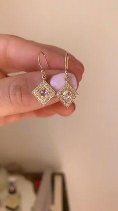 Princess Cut Diamond Earrings, Diamond Chandelier Earrings, Diamond Drop Earrings, Rose Cut Diamond, Black Diamond, Ankle Jewelry, Ear Jewelry, Jewelry Box, Jewellery Earrings