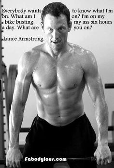 Lance Armstrong finally says what he is on... hero to milions.. I think not.