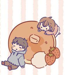 Cute Chibi Couple, Cute Couple Cartoon, Chibi Characters, Cute Characters, Kawaii Drawings, Cute Drawings, Kawaii Faces, Cold Shower, Kawaii Doodles