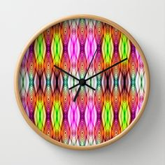 Friendship Bracelet Wall Clock by Christine baessler - $30.00