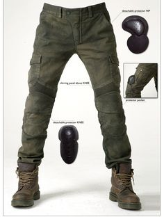 93.86$  Buy here - http://alizbo.worldwells.pw/go.php?t=32315848737 - Free shipping UB06 Army Green casual motorcycle ride pants motorcycle jeans denim pants loose automobile race pants