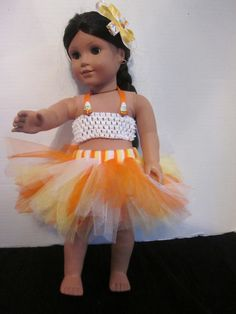 American Girl 18 Inch Doll Tutu Halloween by SweetpeasBowsNmore, $14.00