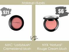 Makeup dupes: MAC Ladyblush dupe
