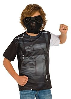 225782024 Rubie's Costume Captain America: Civil War Winter Soldier Child Top and  Mask, Large Best