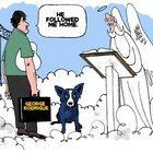Steve Kelley, former editorial cartoonist for The Times-Picayune, created this memorial to George Rodrigue, the noted Louisiana artist, who died over the weekend....
