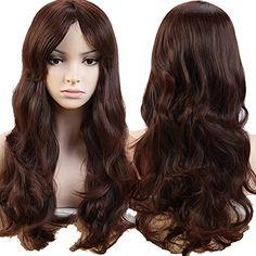 S-noilite UK 19Inch(48cm) Long Curly Full Wig Cosplay Par…