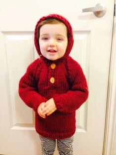 Child Hoodie Pullover Sweater/  Sizes 2 4 6 8 and by knitsbygramma