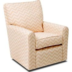 little castle furniture kacy collection madison glider chevron natural