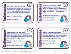 24 Inference  cards for $2.00. Perfect for grades 3-6.