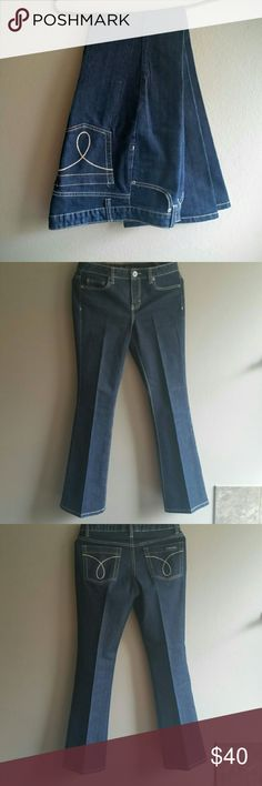 Dark wash jeans by Calvin Klein CONDITION: New Without Tags  --- CONCERNS: None! --- I will provide more pics, materials, measurements, etc. upon request! --- ***I welcome ALL OFFERS and do bundle discounts!*** Calvin Klein Jeans Jeans
