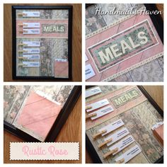 'Rustic Rose' Meal Planner. $50 + postage or local pick up Springfield Lakes. Visit my FB page 'Handmaid's Haven' for more info or to place an order.