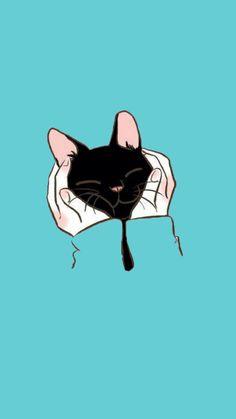 Cat Art Ideas - Ginger Cat Facts - Cat Memes Template - Tuxedo Cat Names - Cat Wallpaper, Kawaii Wallpaper, Animal Wallpaper, Cartoon Wallpaper, Summer Wallpaper, I Love Cats, Cute Cats, Funny Cats, Cat Aesthetic