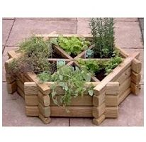 "Herb Wheel-48"" Raised Planter Box-- would be really good for separating mint so it doesn't take over the entire garden."