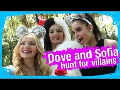 Dove Cameron & Sofia Carson On The Hunt For Disney Villains   WDW Best Day Ever - YouTube