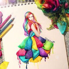 Kristina Webb's flower petal illustration.