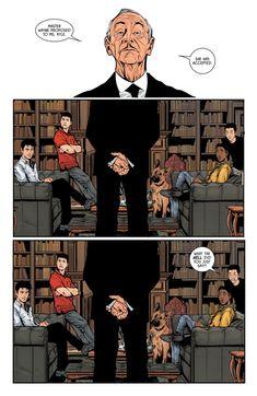 Batman From left to right: Dick Grayson (Nightwing), Jason Todd (Red Hood), Alfred Pennyworth, Duke Thomas and Damian Wayne (Robin) Batman Meme, Batman Robin, Im Batman, Nightwing, Batgirl, Batman Und Catwoman, Gotham City, Univers Dc, Bat Boys