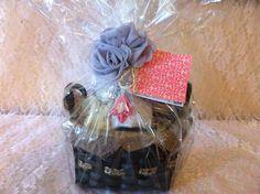 BURLAP SPA GIFT Basket: Organic Sugar Scrub, Organic Salt Scrub and Mineral Bath Salts. Rustic Chic Mason Jars Shabby Chic Gift. via Etsy.