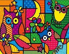 Lindas!!! Más Tableau Design, Owl Illustration, Cubism Art, Plastic Art, Vintage Owl, Owl Art, Whimsical Art, Art Plastique, Elementary Art