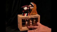 Youtube videos of mechanical toys (automata): The Lion Tamer and more
