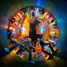 Clowning around at Sydney's Vivid light festival  shot with #thetas
