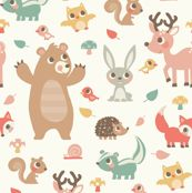 Removeable wallpaperWoodland Animals by laura_mayes