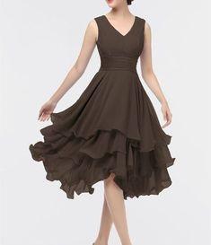 Elegant Chiffon Homecoming Dress,V-Back Sleeveless Evening Prom Dress,Irregular Homecoming Gown on Luulla Simple Dresses, Beautiful Dresses, Short Dresses, Formal Dresses, Prom Dresses For Sale, Homecoming Dresses, Dress Outfits, Fashion Dresses, Stitching Dresses
