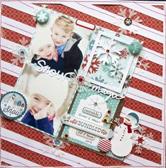 Snow Magic - Scrapbook.com - Put your page on a tile for a fun, whimsical look!
