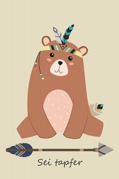 Indianer Bär | Poster | artboxONE