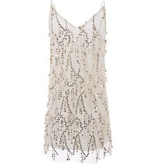 Sequins Cami A Line Tassels Club Dress ($17) ❤ liked on Polyvore featuring dresses, sequin camisole, tassle dress, pink cami, tassel dress and pink sequin dress