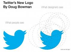 What designers see the Twitter's new logo - poztag.com
