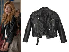 Madison (Bella Thorne) wears a Nasty Gal Moto Zip Crop Jacket in the color Black in The DUFF. #madison #TheDUFF #cbsfilms #bellathorne