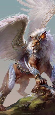 Lion, , Yu Cheng Hong on ArtStation at https://www.artstation.com/artwork/BV26