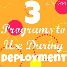 3 (Free!) Programs to Use During Deployment.  Wish I would have known about the Tuna for Soldiers earlier!